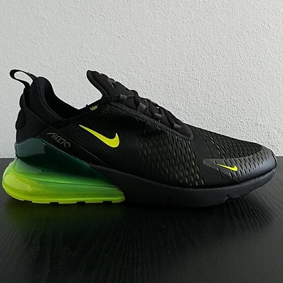 size 40 420e0 9afd8 Nike Air Max 270 Black Volt AH8050 017 Sz 15 New